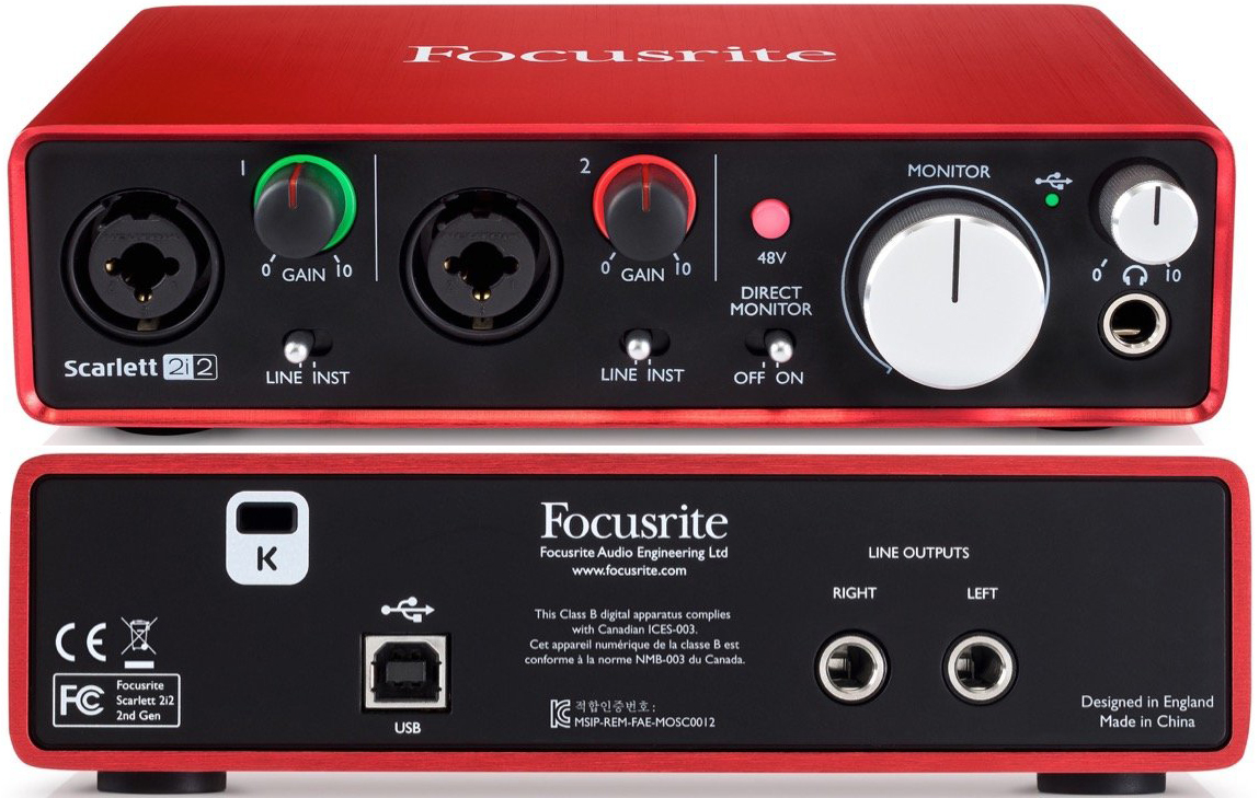 Focusrite Scarlett 2i2 2nd Gen USB Audio Interface 2-Channel