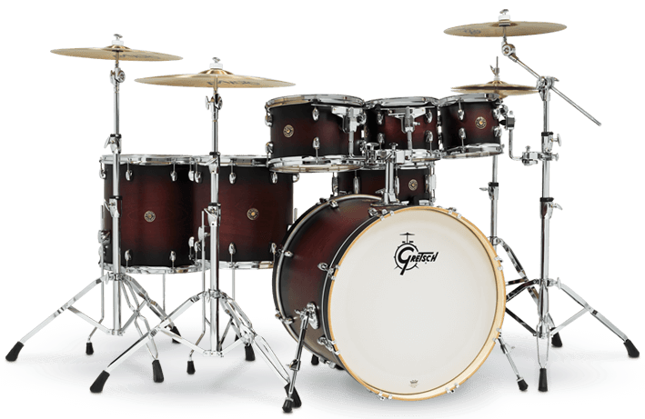 "Gretsch Drums Catalina 7-pc Acoustic Drum Set with 22"" Kick"