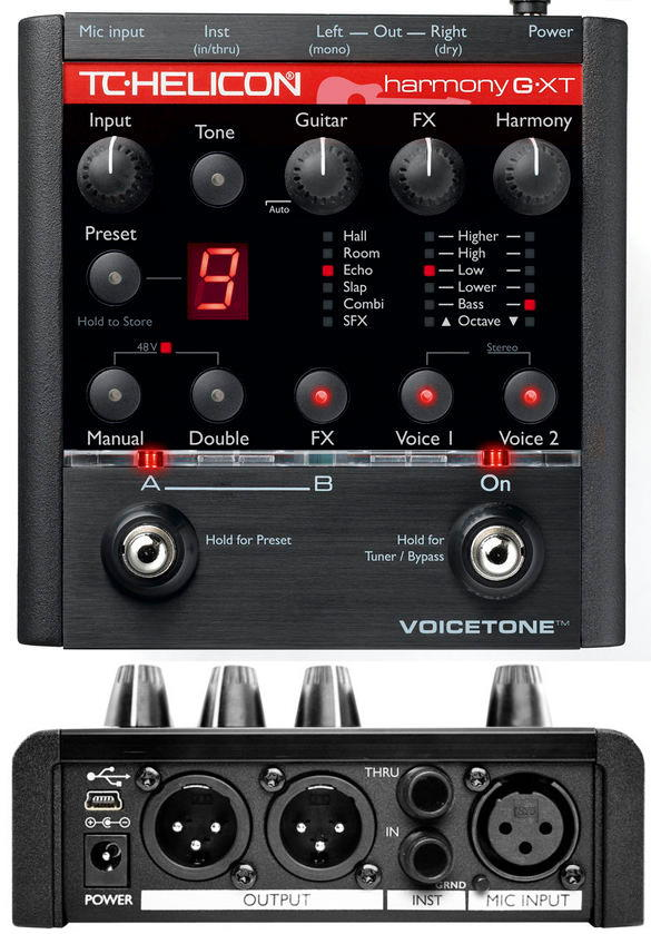 TC Helicon VoiceTone Harmony-G XT Vocal Effects Processor Pedal