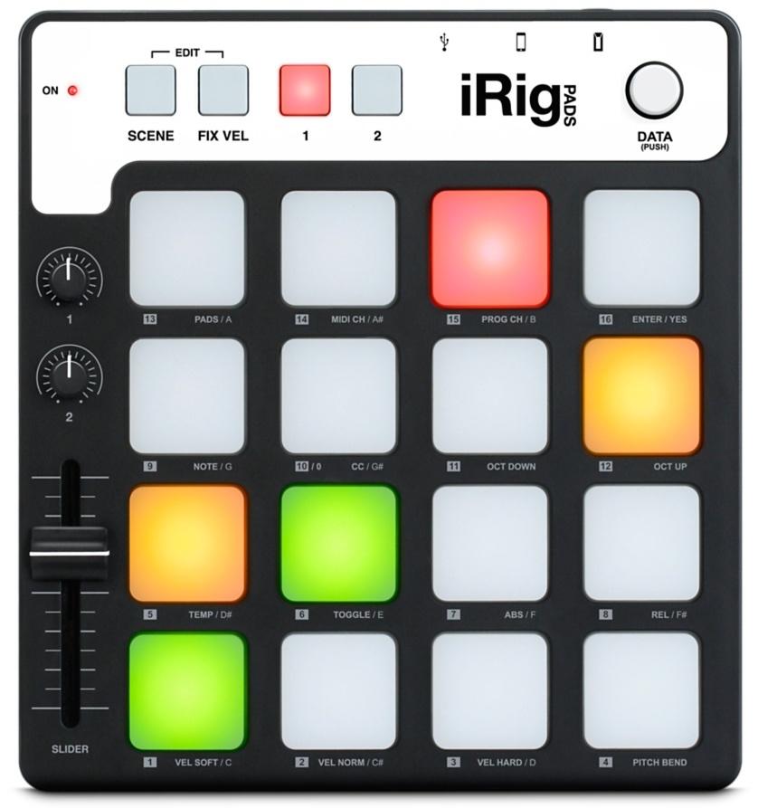 IK Multimedia iRig Pads MIDI Pad Controller
