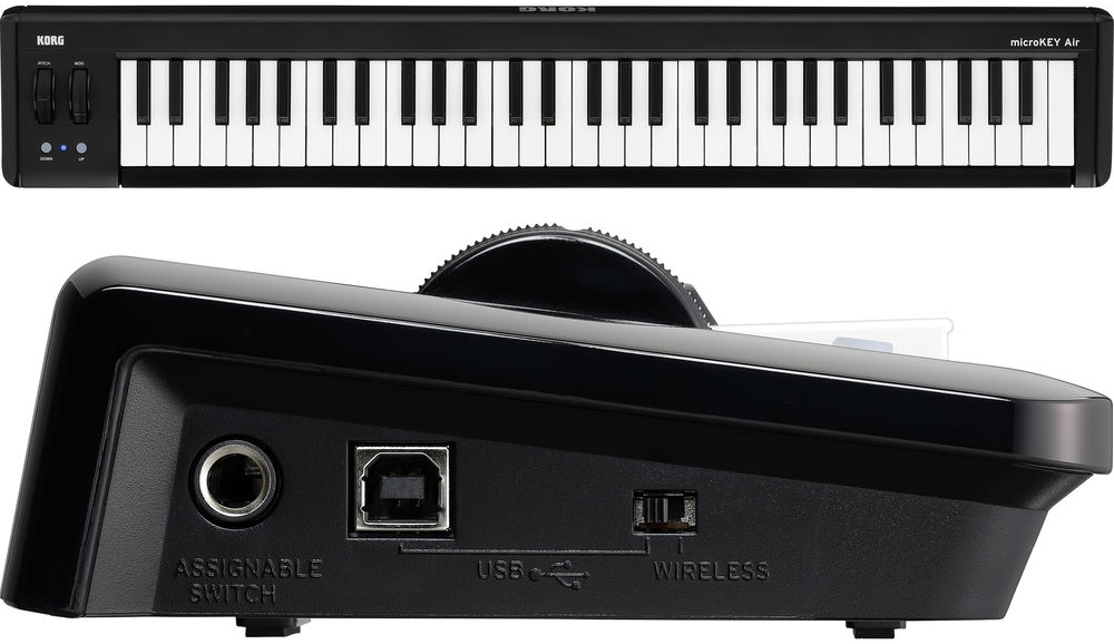 Korg microKEY AIR-61 61-Key MIDI Keyboard Controller with Bluetooth