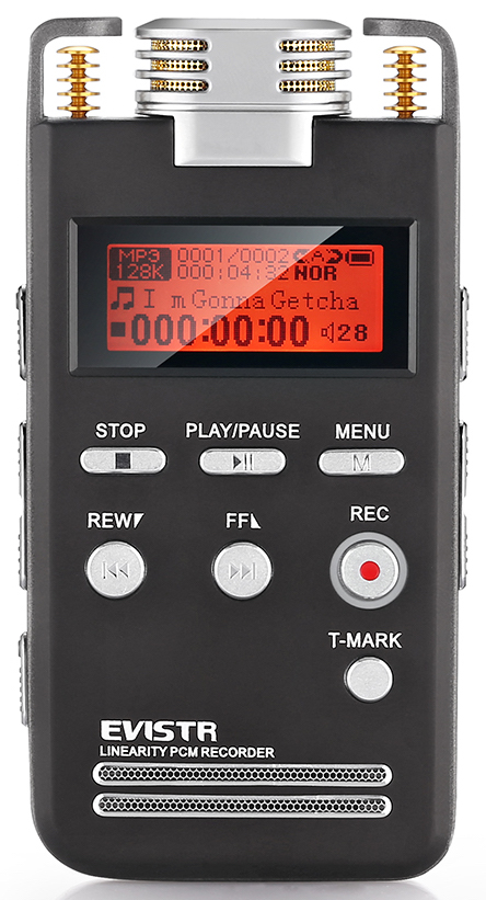 EVISTR L53 Portable Digital Voice Recorder - Handheld