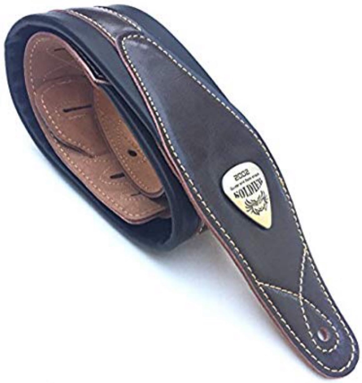 "Legato Double Padded Soft Leather Guitar Strap 3"" Wide"