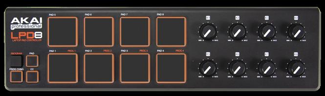 Akai Professional LPD8 Laptop MIDI Pad Controller