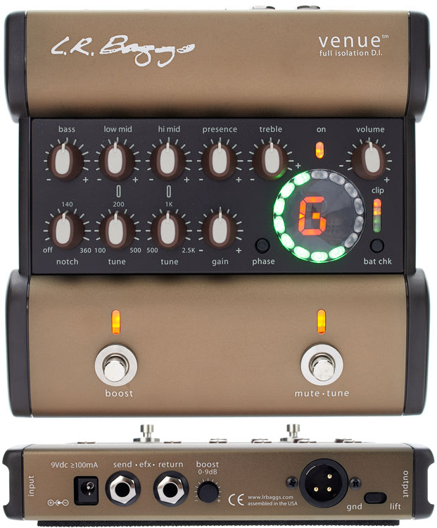 LR Baggs Venue DI Acoustic Preamp DI Box with EQ and Tuner Pedal