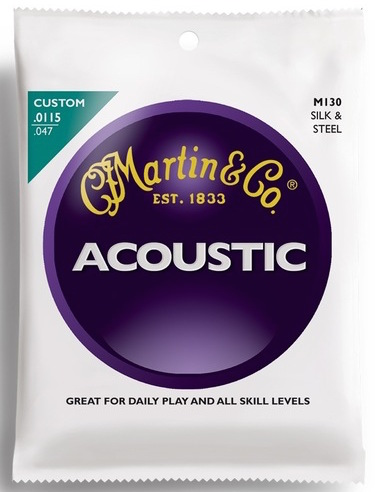 Martin M130 Silk and Steel Acoustic Guitar Strings