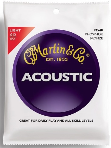 Martin M540 92/8 Phosphor Bronze Light Acoustic Guitar Strings