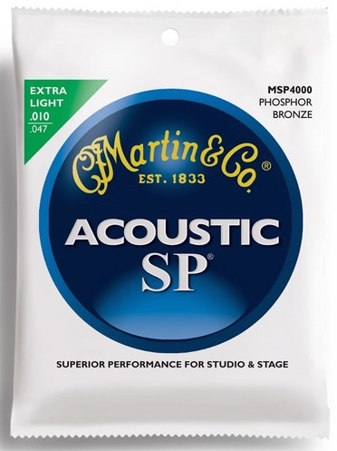 Martin MSP4000 SP 92/8 Phosphor Bronze Extra Light Acoustic Guitar Strings