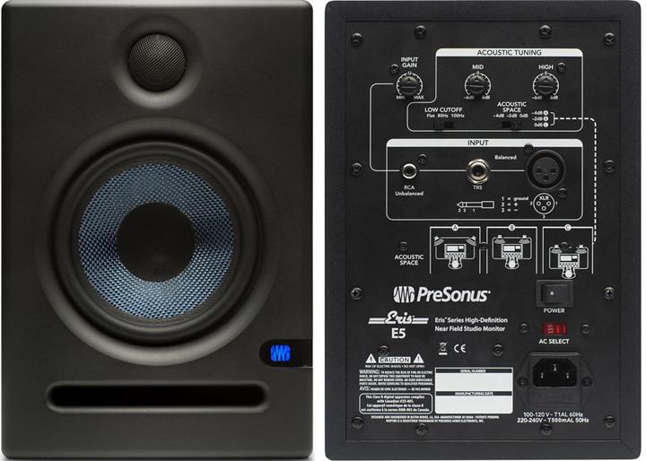 "PreSonus Eris E5 70W 5.25"" Powered Studio Monitors"