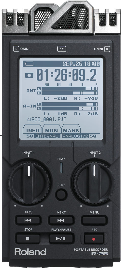 Roland R-26 6-Channel Portable Recorder - Handheld