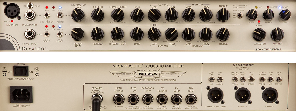 Mesa/Boogie Rosette Two:Eight Front/Back Panel