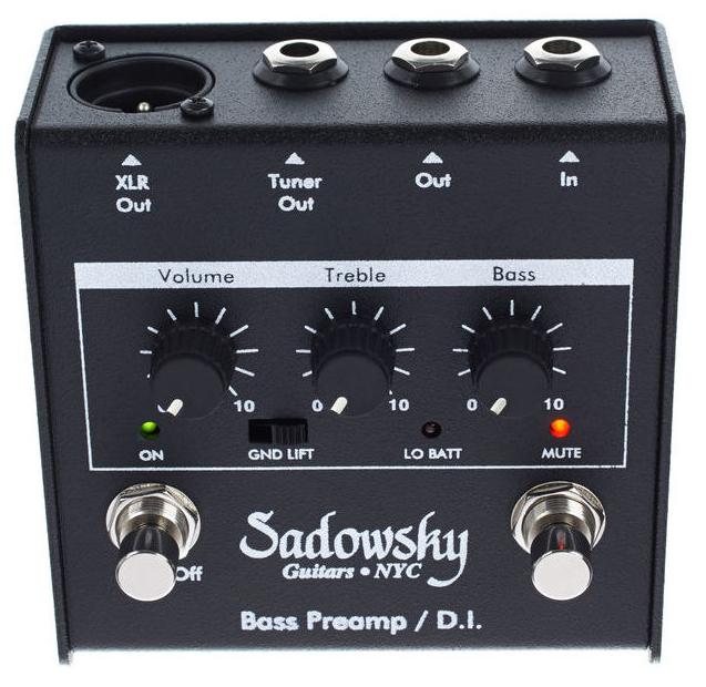 Sadowsky Bass Preamp DI Pedal