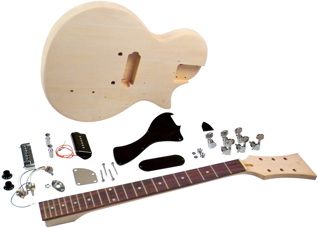 Saga LJ-10 DIY Electric Guitar Kit - LP Jr. Style