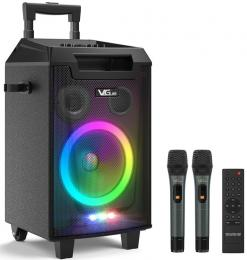 VeGue VS-0866 Battery Powered PA System with 8'' Subwoofer