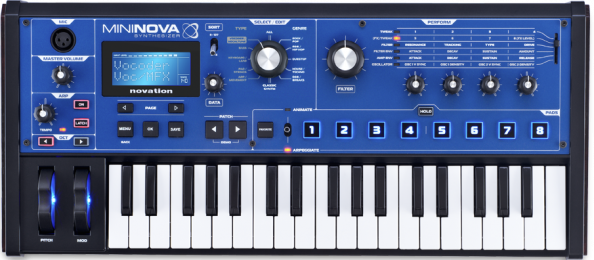Novation MiniNova Virtual Analog Digital Synthesizer with Vocoder