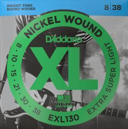 D'Addario EXL130 Nickel Wound Electric Guitar Strings (Extra Super Light Gauge)