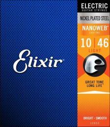Elixir Strings 12052 Nanoweb Electric Guitar Strings (Light Gauge)