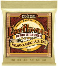 Ernie Ball 2069 Earthwood 80/20 Bronze Folk Ball End Nylon Guitar Strings