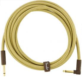 Fender Deluxe Series Tweed Straight to Right Angle Instrument Cable