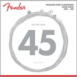Fender 9050L Stainless Steel Flatwound Light Long Scale Bass Guitar Strings