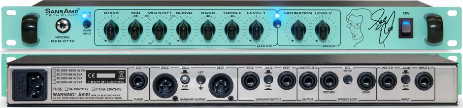 Tech 21 SansAmp GED-2112 Geddy Lee Signature Rackmount Bass Preamp