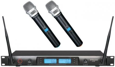 GTD Audio 622H 2x100 Channel UHF Wireless Microphone