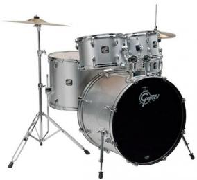 Gretsch RGE625 Renegade 5 Piece Drum Set - Metallic Silver