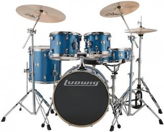 "Ludwig LCEE200 Element Evolution 5-Piece Acoustic Drum Set with 20"" Kick"