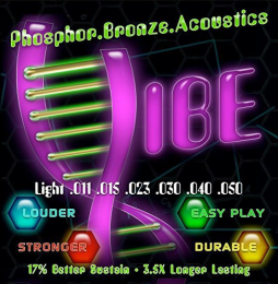 Vibe Strings Light Phosphor Bronze/Steel Acoustic Guitar Strings