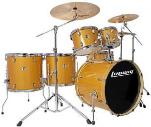 Ludwig Element Evolution LCEE6220 6-piece Drum Set - Gold Sparkle