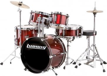Ludwig LJR106 Junior 5-Piece Acoustic Drum Set