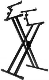 On-Stage Stands KS7292 Double-X 2 Tier Keyboard Stand