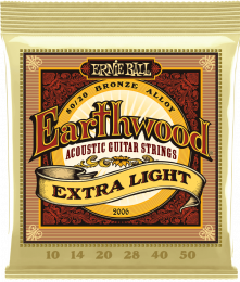 Ernie Ball 2006 Earthwood 80/20 Bronze Extra Light Acoustic Strings