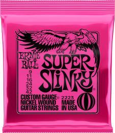 Ernie Ball 2223 Super Slinky Nickel Wound Electric Guitar Strings (Super Light Gauge)