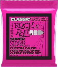 Ernie Ball 2253 Super Slinky Classic Rock N Roll Electric Guitar Strings (Super Light Gauge)