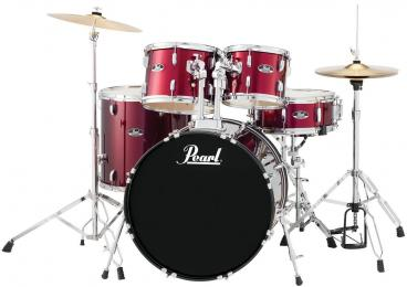 Pearl Roadshow RS525SC 5-Piece Drum Set - Wine Red
