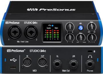 PreSonus Studio 24c USB-C 2x2 Audio Interface