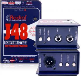 Radial J48 1-Channel 48V Phantom-Powered Active DI Box