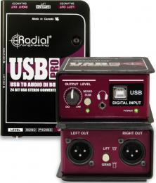 Radial USB-Pro 2-Channel Active DI Box