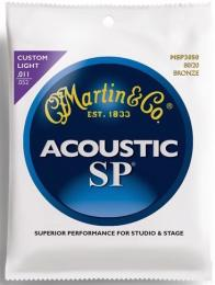 Martin MSP3050 SP 80/20 Bronze Custom Light Acoustic Guitar Strings