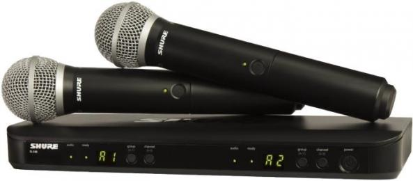 Shure BLX288/PG58 Dual Handheld Wireless Microphone System