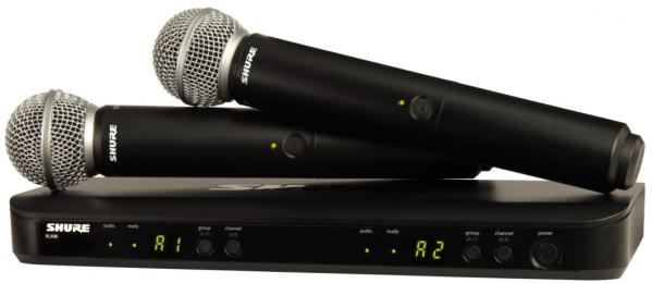 Shure BLX288/SM58 Dual Channel Wireless Handheld Microphone System
