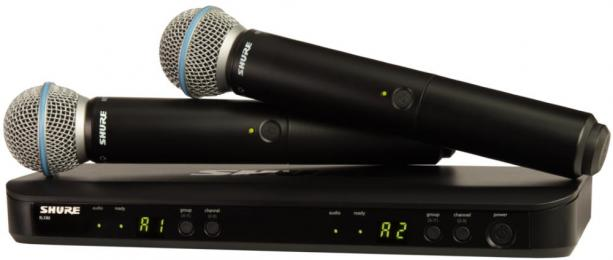 Shure BLX288/B58 Dual Channel Wireless Handheld Microphone System