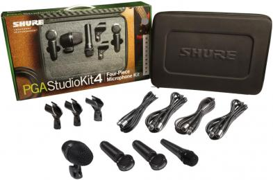 Shure PGASTUDIOKIT4 Drum Microphone Kit