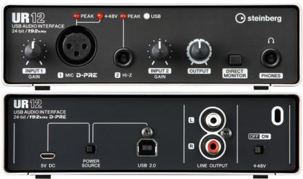 Steinberg UR12 2-Channel USB Audio Interface