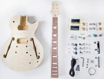 TheFretWire DIY Electric Guitar Kit - SemiHollow LP