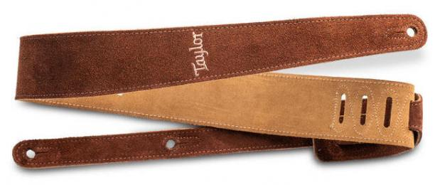 """Taylor 2.5"""" Embroidered Suede Guitar Strap"""