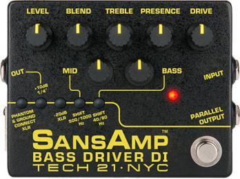 Tech 21 SansAmp Bass Driver DI V2 Preamp Pedal
