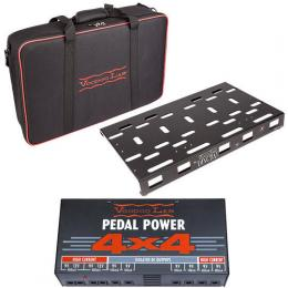 Voodoo Lab Dingbat Medium Powered Pedalboard Package with Pedal Power 4x4