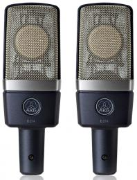 AKG C214 Stereo Pair Large-diaphragm Cardioid Condenser Microphones